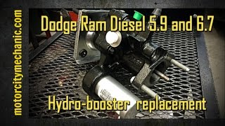 getlinkyoutube.com-Dodge Ram Diesel 5.9 and 6.7 hydro-booster replacement
