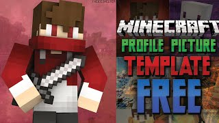 getlinkyoutube.com-*UPDATED* FREE Minecraft YouTube Profile Picture Template! [FREE DOWNLOAD]