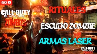 getlinkyoutube.com-Call of Duty Black Ops 3 Zombies Gameplay Español - Shadows of Evil - Armas Laser, Escudo Zombie