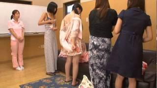 getlinkyoutube.com-Shameless Nurse!! Naked Caregivers Uniform!!