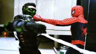 getlinkyoutube.com-Hot Toys Stop Motion : Spiderman VS Green Goblin 蜘蛛人VS綠惡魔