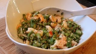 getlinkyoutube.com-Fry Okra With Shrimp.