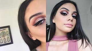 Neutral Cut Crease, Bold Winged Liner + A Pop Of Glitter!