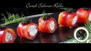 getlinkyoutube.com-Cured Salmon Rolls / Amuse Bouche – Bruno Albouze – THE REAL DEAL