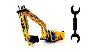 getlinkyoutube.com-Lego Technic MOC Excavator – Review / Лего Техник самоделка Экскаватор - Обзор