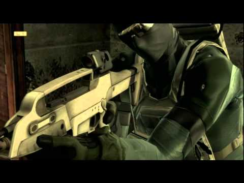 Metal Gear Solid 4 HD Walkthrough (No Kill & Alert) Act1 Part10A
