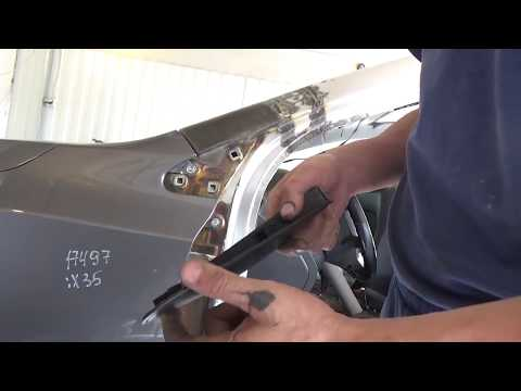 Как снять переднее крыло Hyundai iX-35.