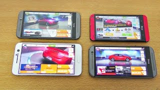 getlinkyoutube.com-HTC 10 vs M9 vs M8 vs M7 Asphalt 8 Gaming Comparison! (4K)