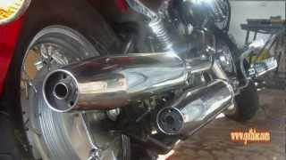 getlinkyoutube.com-Yamaha Dragstar Exhaust Modification - No rejet!