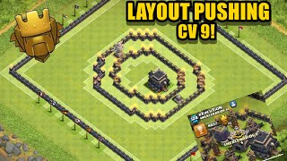getlinkyoutube.com-Layout Push Cv 9 - Defesa - Clash Of Clans 2016