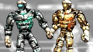 getlinkyoutube.com-Real Steel ATOM VS ATOM GOLDEN | ROBOTS BOXING (Живая сталь)
