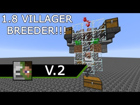Minecraft 1.8 FULLY AUTOMATED VILLAGER BREEDER V.2!!!