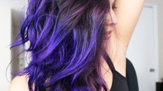 How I Did My Galaxy Hair! (Purple Passion by Sparks)