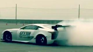 getlinkyoutube.com-レクサスLFAのドリフトに海外が大興奮!V8エンジン1000HPの大パワー!外国人「凄い!D1GPで早く見たい!」