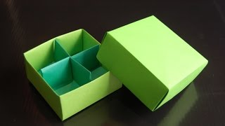 getlinkyoutube.com-Origami  Box (Traditional / Box Divider - Paolo Bascetta)