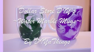 getlinkyoutube.com-Dollar Store DIY - Ep. 2 - Water Marble Mugs