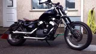 getlinkyoutube.com-How To Build a Suzuki VL 125 Intruder LC Custom Bobber