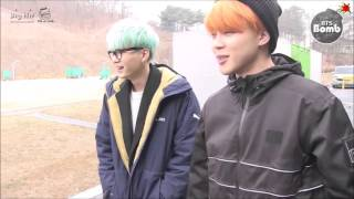 getlinkyoutube.com-【BTSNOJAMS中字】[BANGTAN BOMB] Became an archer! SUGA & JIMIN's new challenge for ISAC