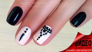 getlinkyoutube.com-Дизайн ногтей гель-лак shellac - Роспись ногтей мехенди (видео уроки дизайна ногтей)