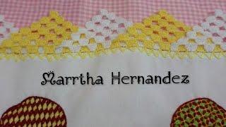 getlinkyoutube.com-Orilla o Puntilla tejida  Triangulos en 2 Colores