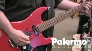 getlinkyoutube.com-Palermo PG3 Custom Shop Aged Fiesta Red w/ EVH Frankenstein Pickup ETC