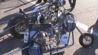 getlinkyoutube.com-Mini Bike Drag Racing Barona Drag Strip 1-24-2015