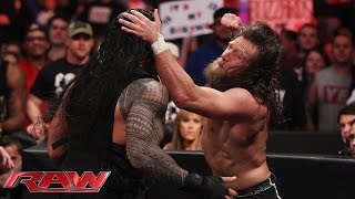getlinkyoutube.com-Daniel Bryan and Roman Reigns brawl as Raw goes off the air: Raw, February 16, 2015