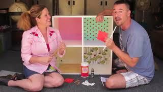 getlinkyoutube.com-DIY Modern Bookshelf Dollhouse with Cathie & Steve