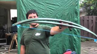 getlinkyoutube.com-A 65 Pound Centershot PVC Bow Part 3 - Stringing and Shooting