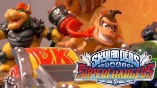 getlinkyoutube.com-Skylanders Superchargers - Amiibo Donkey Kong & Bowser Wii U Game-Play