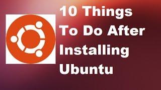 getlinkyoutube.com-10 Things To Do After Installing Ubuntu Linux