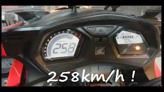 getlinkyoutube.com-Honda CBR650F Dyno Test top speed 258Kmh