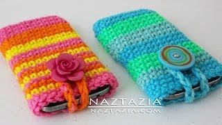 getlinkyoutube.com-DIY Tutorial - How to Crochet Easy Mobile Cell Phone Pouch Case Cover Holder for iPhone iPod Samsung
