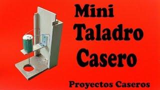 getlinkyoutube.com-Cómo Hacer un Mini Taladro de Banco Casero (muy fácil de hacer)