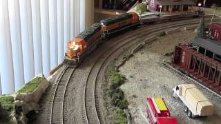getlinkyoutube.com-HO Trains Running Video February 2014