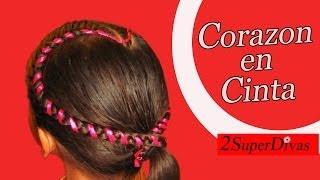 getlinkyoutube.com-Peinados Infantiles en forma de Corazon, pajecita, Trenzas, quinceañera, tutorial, novias, prom.