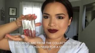 getlinkyoutube.com-MY TOP 10 COLOURPOP ULTRA MATTE LIPS (FOXY)