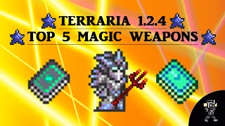 getlinkyoutube.com-Terraria 1.2.4 Top 5 Magic Weapons (updated list) (includes 5 second golem speedkill)