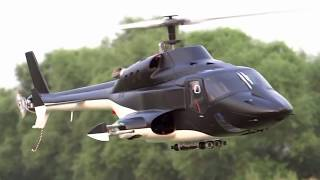 New version Full custom Airwolf 500size RC Heli Test flight