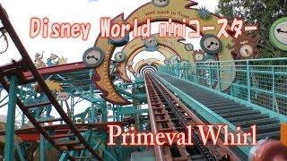 ディズニーワールドのショボい miniコースター Primeval Whirl Animal Kingdom WDW