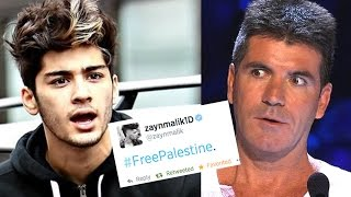 Zayn Malik #FreePalestine Tweet - Is Simon Cowell outraged?