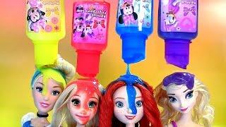 getlinkyoutube.com-TOYSBR Disney Princess Bath Paint Set LEARN MIX COLORS | Tintas de Banho das Princesas Fingerpaint