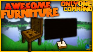 getlinkyoutube.com-Minecraft - Furniture in one command! | Vanilla Minecraft