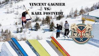 getlinkyoutube.com-S.K.A.T.E on snow : Vincent Gagnier VS Karl Fostvedt / semi finals Vars Tournament
