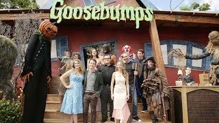 getlinkyoutube.com-Goosebumps Premiere - Jack Black, Odeya Rush, Halston Sage, Dylan Minnette, Ryan Lee, Slappy