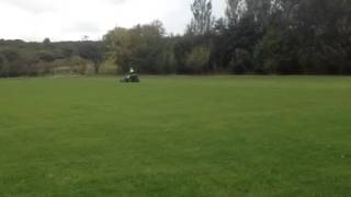 Major Equipment Synergy Mower cutting at high speed