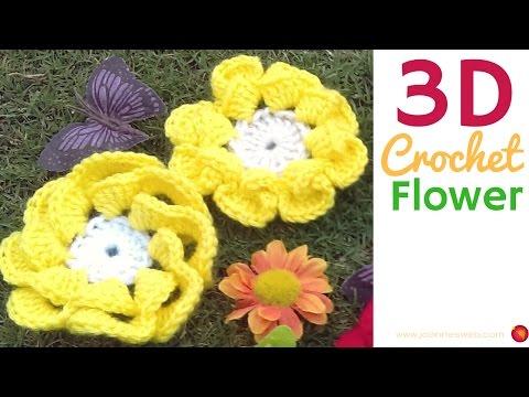 3D Crochet Flower - Crochet Embellishment Decor