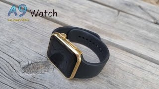 getlinkyoutube.com-A9 Watch, otro clon similar al de Apple con Heart Rate [Unbox y review]