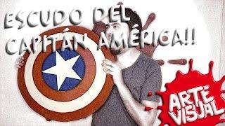 getlinkyoutube.com-ARTE VISUAL - CÓMO HACER EL ESCUDO DEL CAPITAN AMERICA #THEAVENGERS  (CAPTAIN AMERICA'S SHIELD)