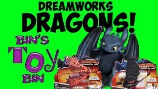 Dreamworks DRAGONS Defenders of Berk Action Figures! TOOTHLESS & more! Review by Bin's Toy Bin